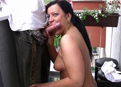 blow-job.pl - Natalia robi loda na balkonie
